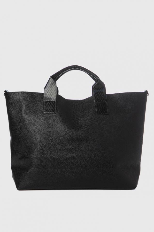 Large tote- bag in black color