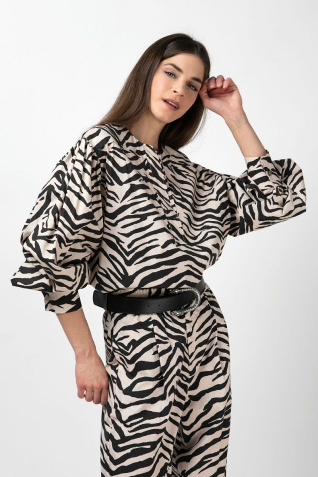 Zebra- print blouse
