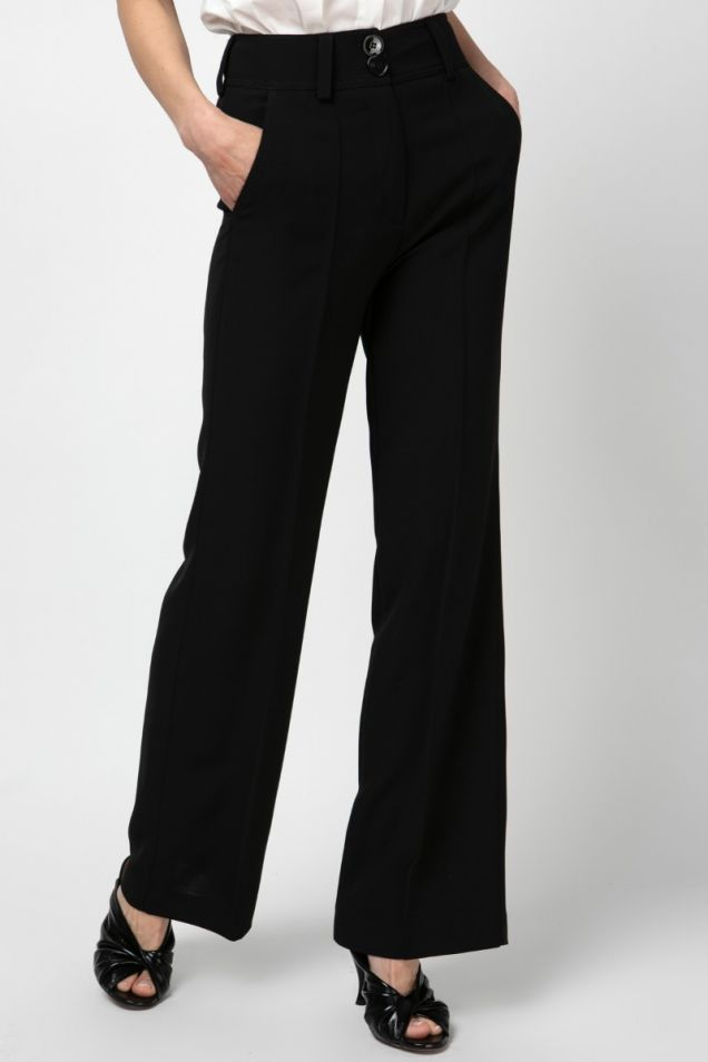 High rise wide -leg pants