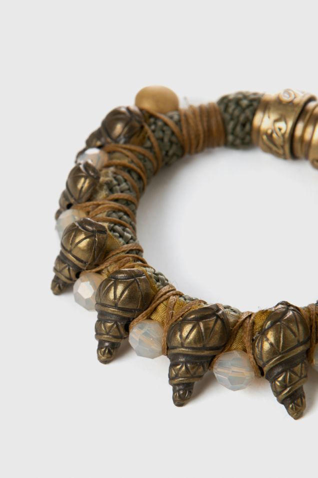 Bracelet with cord and beads