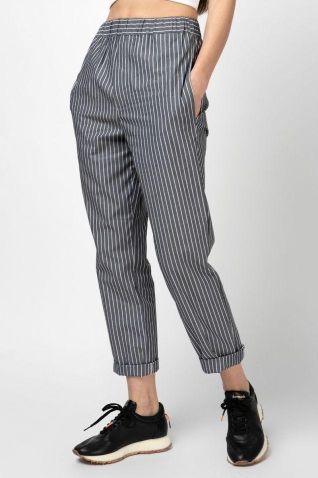 Cotton striped pants