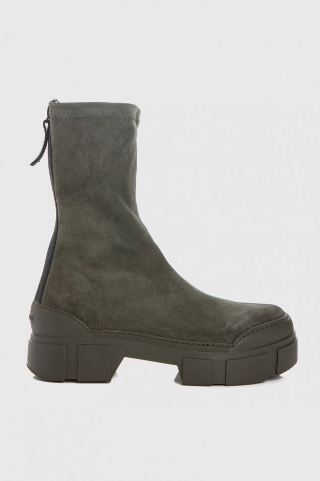 Ankle boots in military khaki