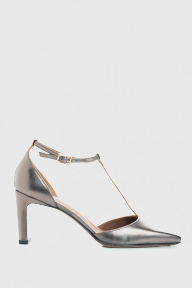 Lame leather d' orsay shoes